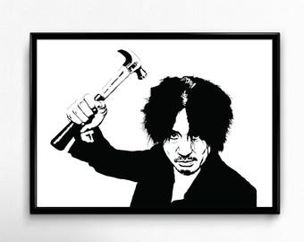 Oldboy Art Print - Super Detailed Giclee Print of the Korean Thriller Oldboy (올드보이) - Multiple Sizes and Colors