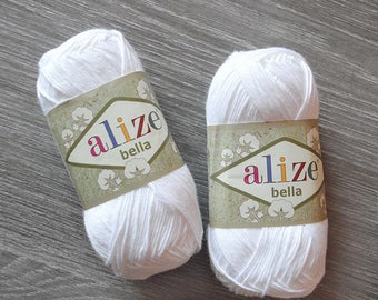 BELLA ALIZE cotton yarn soft natural cotton yarn for crochet crafts