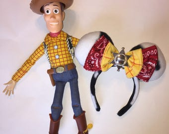 Woody inspired ears , toy story ears , toy story , woody, ears , minnie