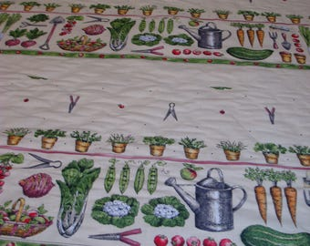 how does my garden grow VINTAGE FABRIC 1980