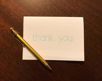 Thank you Card - Light Turquoise