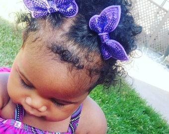 Sparkle Butterfly Hair Clips