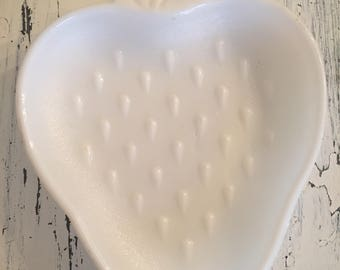 Vintage Milk Glass Strawberry Candy/Soap Dish
