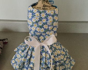 Puppy buns dog Daisy mae harness dress