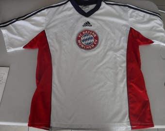 rare made in Englnd vintage FC Bayern Munchen ADIDAS Jersey futbol soccer