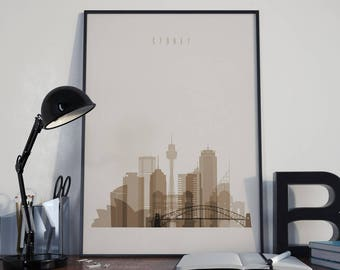 Sydney Art Sydney Watercolor Sydney Multicolor Sydney Wall Art Sydney Wall Decor Sydney Home Decor Sydney Skyline Sydney Print Sydney Poster