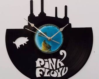 Pink Floyd vinyl record wall clock, vintage record, classic Iconic legend legendary cover, retro clock, old school pop rock and roll