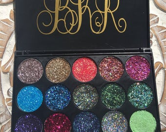 Pressed glitter eyeshadow palette! Customize with any shade!