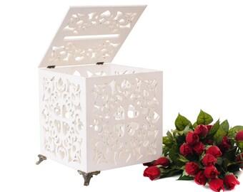 Wedding Card box Card holder Wedding plywood box Wedding gift Wedding keepsake box Money holder Wedding gift boxes Wooden Money Box