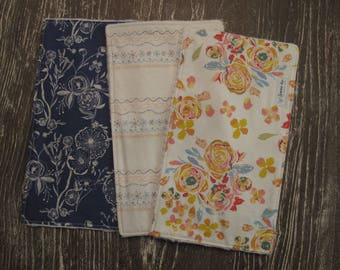 Burp Cloths - Roses Burp Cloths - Embroidered Burp Cloths - Dandelion Burp Cloths - Baby Girl Gifts - Baby Shower Gift - Embroidery - Rose
