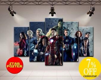 Avengers art, Avengers print, Avengers home decor, Marvel canvas, Marvel comics art, Marvel print, Avengers poster, Avengers wall art, Hulk