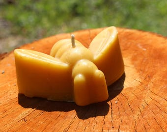 100% Raw, Natural, and Locally Harvested Beeswax Candle