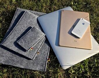 iPhone / iPad / Macbook felt cover case sleeve pouch bag