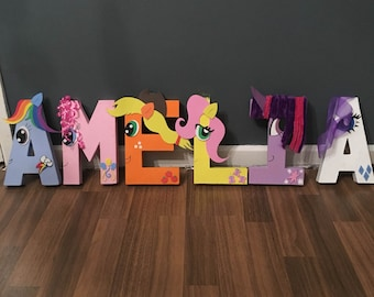 My little pony letters, sign, table decoration