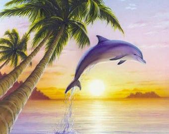 Beautiful Dolphin Cross Stitch Pattern***LOOK***