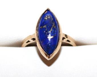 10k lapus lazuli ring