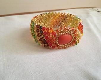 2 light bracelet-handmade with pearls and Swarovski