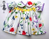 Handmade in Britain Vintage Dress for a Baby Annabell Doll size 18 46cm
