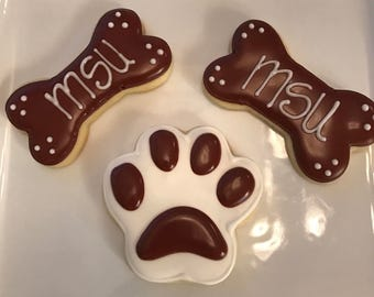 Mississippi State Bulldogs sugar cookies