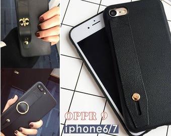 BLACK  leather iPhone 6 Plus Case, iPhone 7 Cases  iPhone 6 case leather, iPhone 6s case leather,