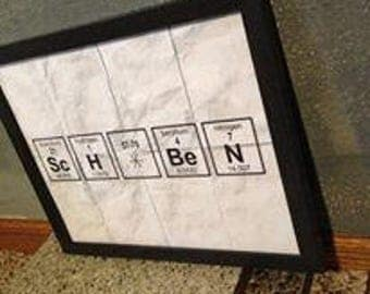 Personalized Framed Periodic Table Elements Print
