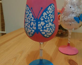 Decorative Butterfly Wine Glasses