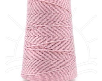 Cotton Yarn MiraYarn 400 g/240 m # 2 or Baba # 8 Pink Twine Baker's Twine Cotton Crochet Thread