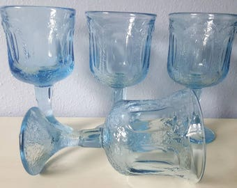 Vintage Blue Noritake Goblets