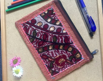Beautiful embroided Indian wallet