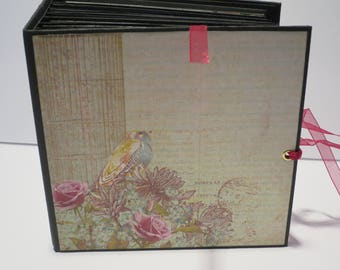 FREE SHIPPING mini album  6.5 x 6.5 inch with 4 inch spine