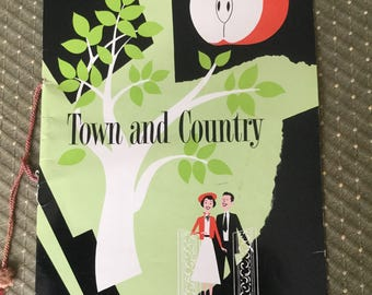 Vintage Town and Country Menu 1960's