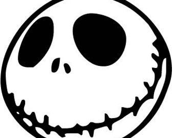 Jack Skellington Nightmare Before Christmas Tim Burton Horror Vinyl Decal Bumper Sticker