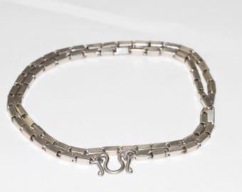 Silver Box Chain Necklace