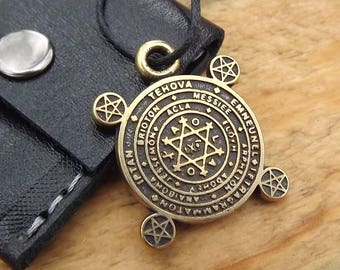 Protection Amulet, talisman amulet, the key of Solomon Necklace,Pentagram