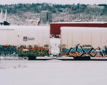 Graffiti Train Print