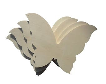 Wooden Butterfly Silhouette for DIY 4 pcs cm 11 H, 14 cm L.