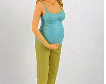 Dollhouse Miniture Resin Doll Joy the Expectant Mother