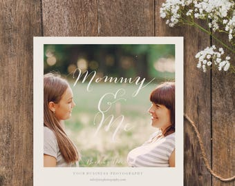 Mothers Day photography session template, Mommy and Me