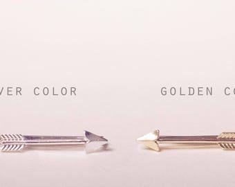 A pair of A pair of Arrow Hair Clips -Gold and Sliver Arrow Hair Clip-Arrow Bobby Pin-Woodland-Wedding Bride Hair Accessories