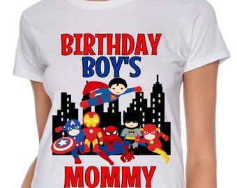 Superhero Birthday Shirt Matching Family Superhero Birthday Shirt