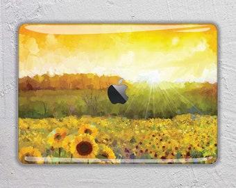 Painting macbook skin flower macbook decal  sunflower macbook sticker macbook cover macbook pro skin macbook air macbook retina 15 13 FSM217