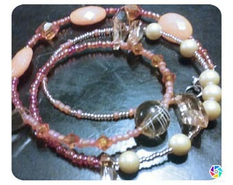 "Morse code "" faith"" wrap bracelet"