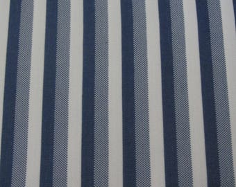 Vintage Double Knit in Stripes of White and Blue