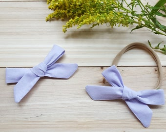Lavender Schoolgirl Bow
