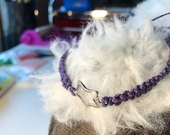 Purple Macrame Star Bracelet