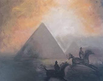 Riding at the Pyramids