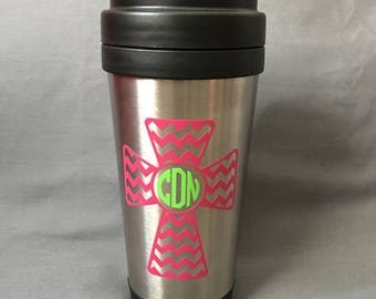 Tumbler with Cross Decal