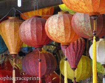 Vietnamese Lanterns Print