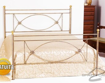 Wrought iron bed 100% Made in Italy craftsmanship Rossana
