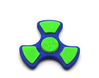 3D Printed Fidget Spinner (Dark Blue/Light Green)
